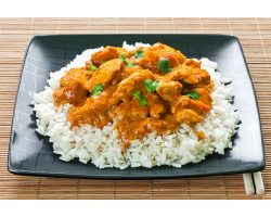 Chicken Curry and Rice Dinner